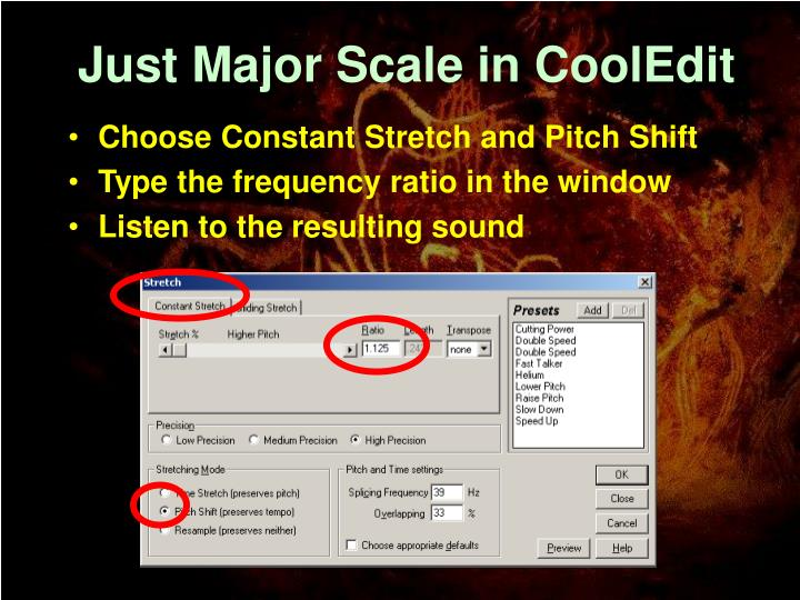 Just Major Scale in CoolEdit