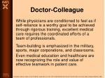 doctor colleague