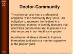 doctor community