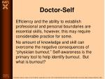 doctor self