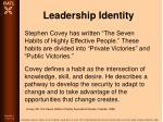 leadership identity74