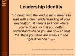 leadership identity89