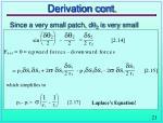 derivation cont