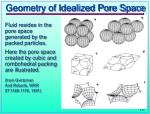 geometry of idealized pore space
