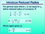 introduce reduced radius