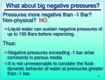 what about big negative pressures
