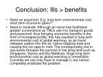 conclusion ills benefits