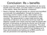 conclusion ills benefits1
