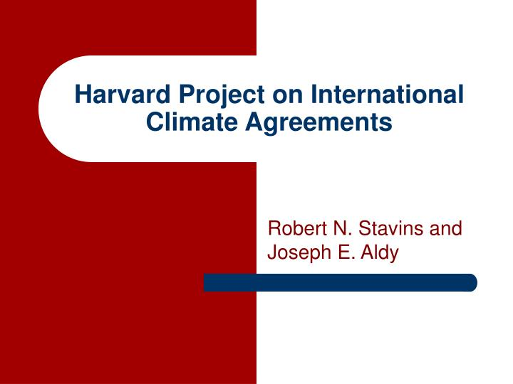 harvard project on international climate agreements n.