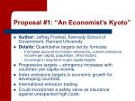 proposal 1 an economist s kyoto