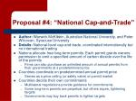 proposal 4 national cap and trade