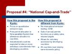 proposal 4 national cap and trade1