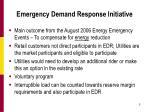 emergency demand response initiative