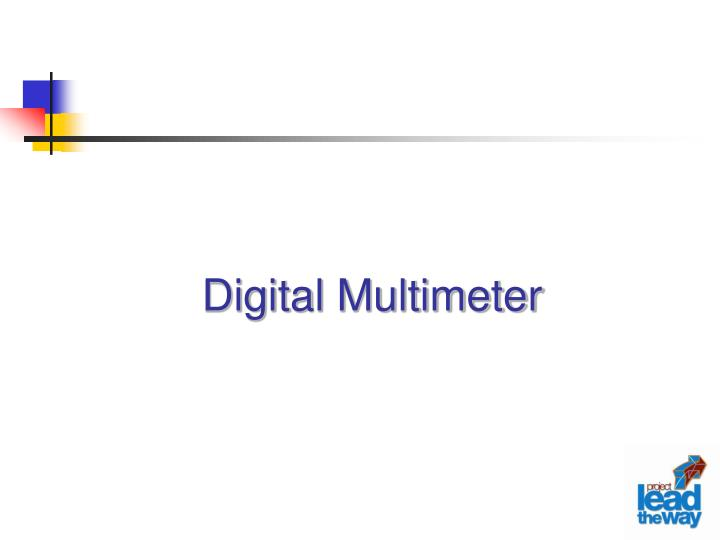 digital multimeter n.