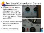 test lead connections current