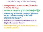computability vs constructivity