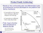 product family architecting