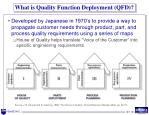 what is quality function deployment qfd