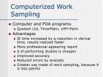 computerized work sampling