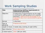work sampling studies