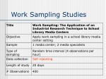 work sampling studies5