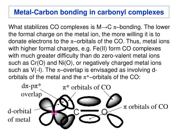 Metal-Carbon bonding in carbonyl complexes