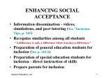 enhancing social acceptance