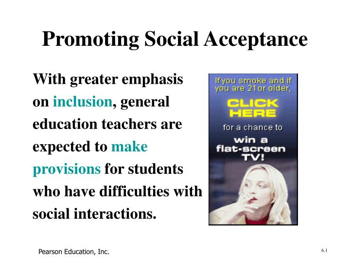 promoting social acceptance n.