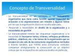 concepto de transversalidad