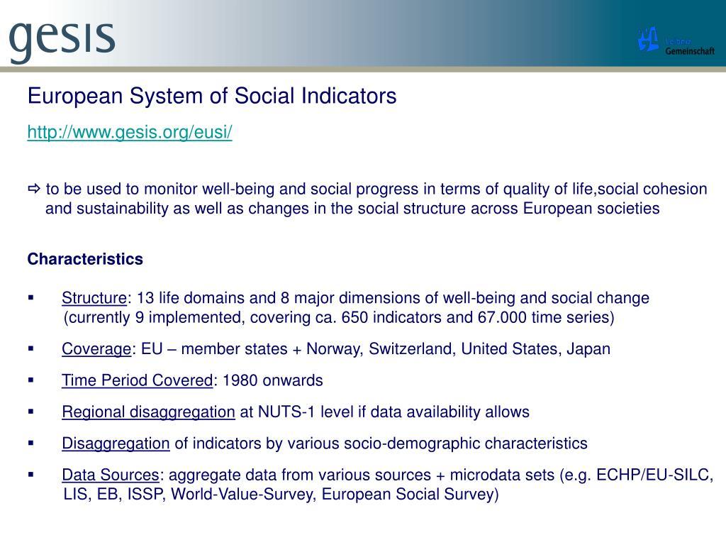European System of Social Indicators