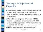 challenges in rajasthan and karnataka