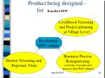 product being designed for rajasthan dpip