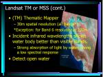 landsat tm or mss cont