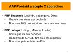 aap cordaid a adopt 2 approches