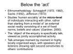 below the act