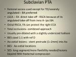 subclavian pta