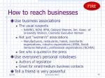 how to reach businesses