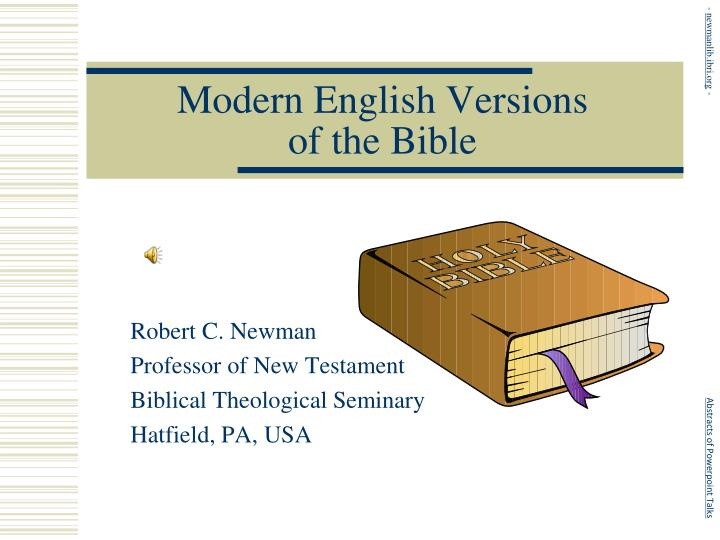 modern english versions of the bible n.