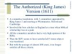 the authorized king james version 1611