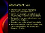 assessment four