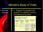 mendel s study of traits
