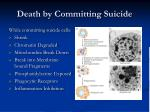 death by committing suicide