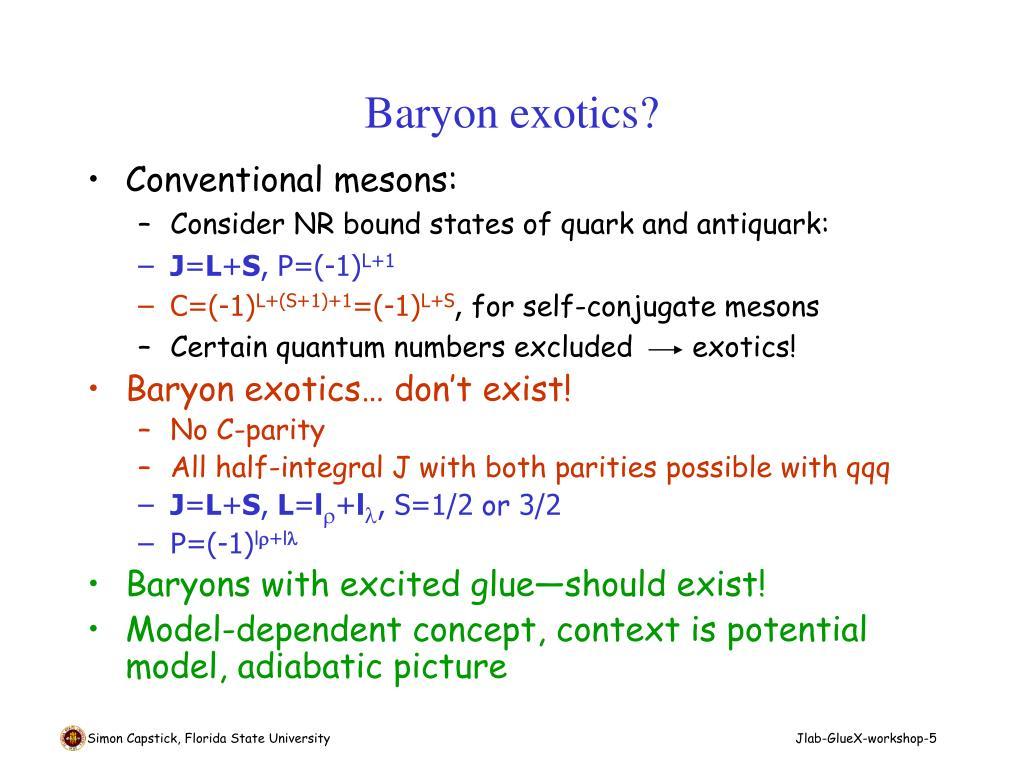 Baryon exotics?