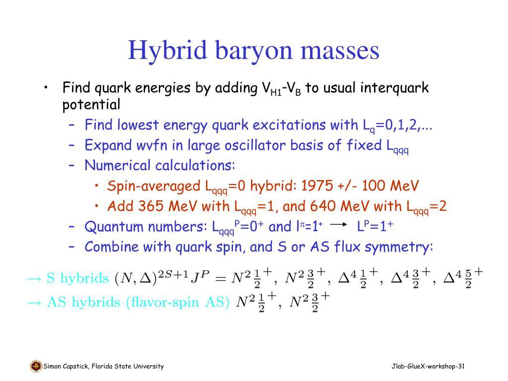 Hybrid baryon masses