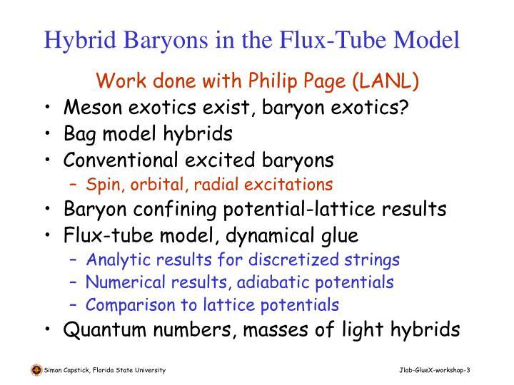 Hybrid baryons in the flux tube model