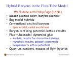 hybrid baryons in the flux tube model