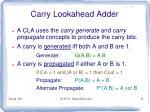 carry lookahead adder1