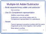 multiple bit adder subtractor