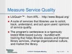 measure service quality