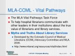 mla ccml vital pathways